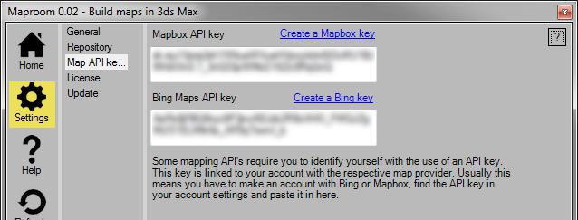 Settings — Maproom 1 0 documentation